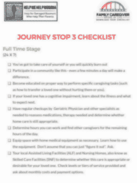 Journey Stop #3 Checklist
